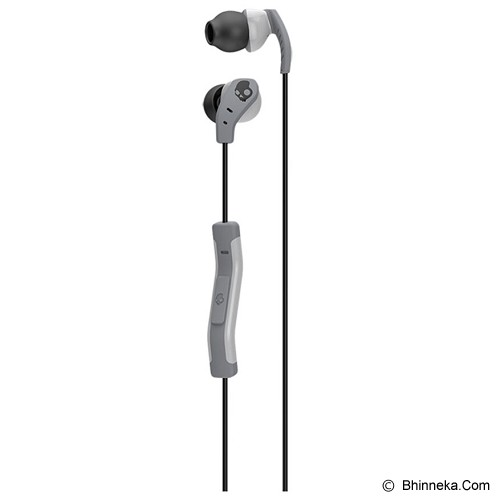 SKULLCANDY SC METHOD  W/ Mic 1 [S2CDGY-405] - Light Grey - Earphone Ear Bud